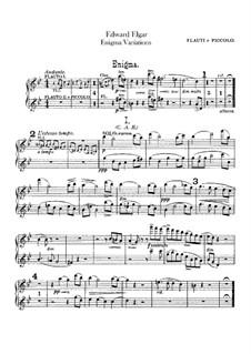 Complete set: Flutes part by Edward Elgar