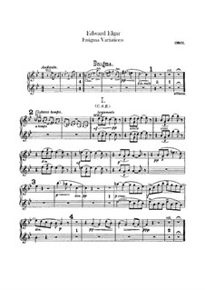 Complete set: Oboes part by Edward Elgar