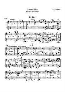 Complete set: Clarinets part by Edward Elgar