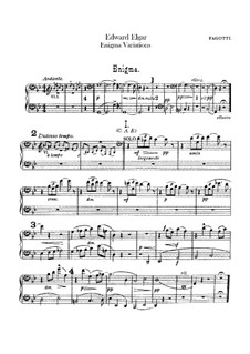 Complete set: Bassoons parts by Edward Elgar