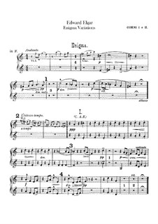 Complete set: French horns parts by Edward Elgar