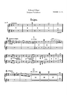 Complete set: Trumpets parts by Edward Elgar
