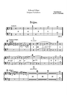 Complete set: Trombones and tuba parts by Edward Elgar