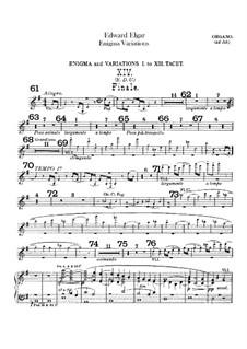 Complete set: Organ part (ad libitum) by Edward Elgar
