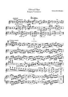Complete set: Violin I part by Edward Elgar