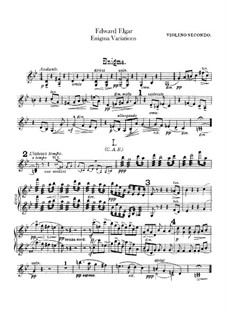 Complete set: Violin II part by Edward Elgar