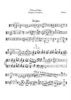 Complete set: Viola part by Edward Elgar