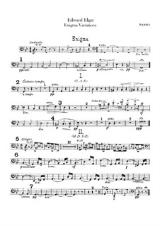 Complete set: Double bass part by Edward Elgar