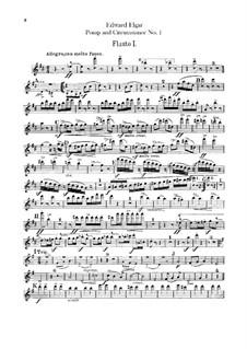 March No.1: Flutes parts by Edward Elgar