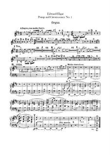March No.1: Organ part by Edward Elgar