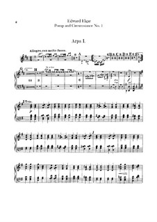 March No.1: Harps parts by Edward Elgar