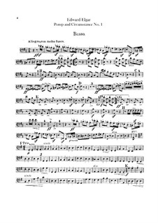 March No.1: Double bass part by Edward Elgar