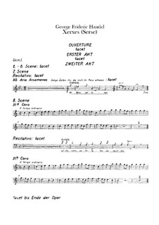 Complete Opera: Horns parts by Georg Friedrich Händel