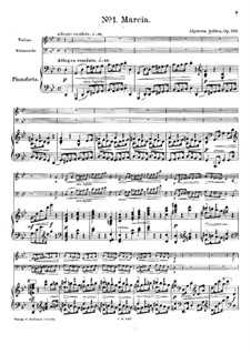 Three Pieces for Violin, Cello and Piano, Op.103: Three Pieces for Violin, Cello and Piano by Algernon Ashton