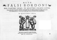 Falsi Bordoni for the Psalms: Contralto part by Giammateo Asola