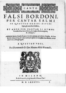 Falsi Bordoni for the Psalms: Soprano part by Giammateo Asola