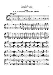 Polovtsian Dances: Harp part by Alexander Borodin
