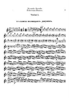 Polovtsian Dances: Violin I parts by Alexander Borodin