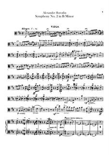Symphony No.2 in B Minor: Viola part by Alexander Borodin