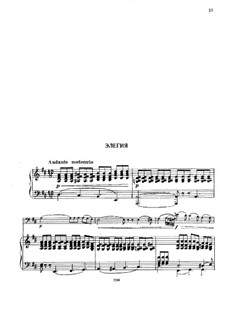 Elegy for Double Bass in D Major: Version for double bass and piano by Giovanni Bottesini