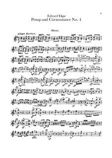 March No.4: Oboes parts by Edward Elgar