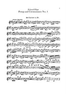 March No.4: Clarinets parts by Edward Elgar