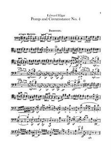 March No.4: Bassoons parts by Edward Elgar