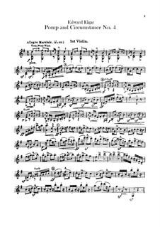 March No.4: Violins parts by Edward Elgar