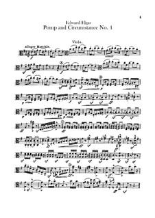 March No.4: Violas part by Edward Elgar