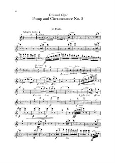 March No.2: Flutes parts by Edward Elgar