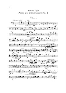 March No.2: Bassoons parts by Edward Elgar