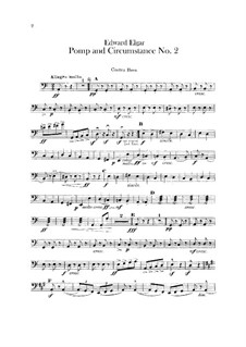 March No.2: Double bass part by Edward Elgar