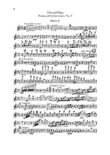 March No.3 : Flutes parts by Edward Elgar
