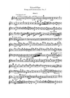 March No.3 : Oboes and cor anglais parts by Edward Elgar