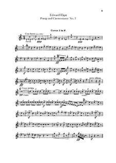 March No.3 : Horns parts by Edward Elgar