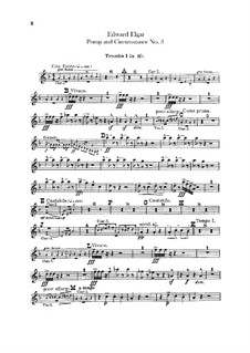 March No.3 : Trumpets and cornets parts by Edward Elgar