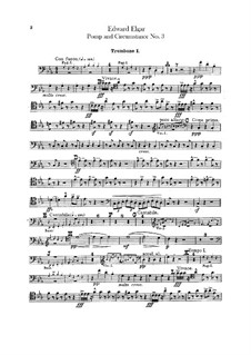 March No.3 : Trombones and tuba parts by Edward Elgar