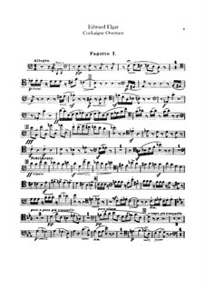 Cockaigne (In London Town), Op.40: Bassoons parts by Edward Elgar