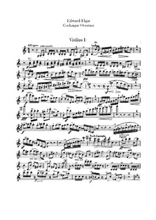 Cockaigne (In London Town), Op.40: Violin I part by Edward Elgar