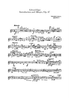 Introduction and Allegro, Op.47: Violins solo parts by Edward Elgar