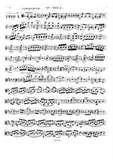 Three String Trios, Op.5: No.1 – viola part by Alexandre Pierre François Boëly
