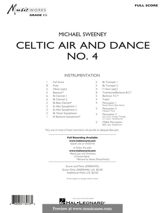Celtic Air and Dance No.4: Full score by folklore