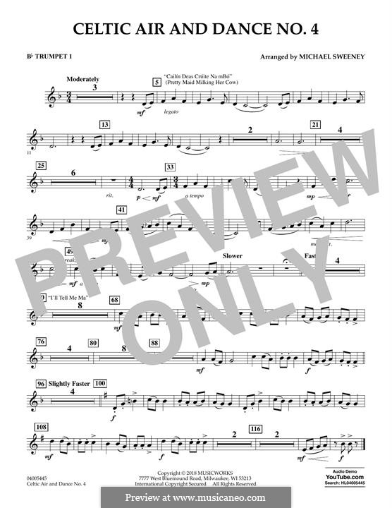 Celtic Air and Dance No.4: Bb Trumpet 1 part by folklore