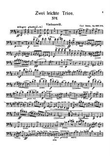 Two Easy Trios for Violin, Cello and Piano, Op.330: Trio No.1 – Cello Part by Carl Böhm
