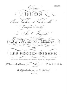 Two Duos for Violin and Cello: Violin part by Antoine Bohrer