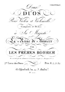 Two Duos for Violin and Cello: Cello part by Antoine Bohrer