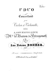 Two Concert Duos for Violin and Cello: Duo No.1 – violin part by Antoine Bohrer