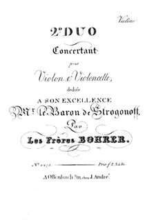 Two Concert Duos for Violin and Cello: Duo No.2 – violin part by Antoine Bohrer