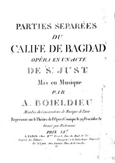 Le calife de Bagdad: Double Bass part by Adrien Boieldieu