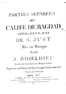Le calife de Bagdad: Clarinet I part by Adrien Boieldieu